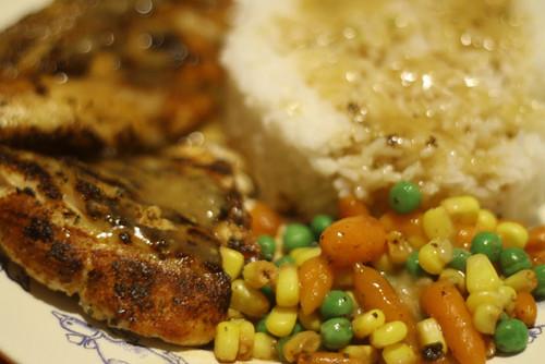 Sizzling chicken