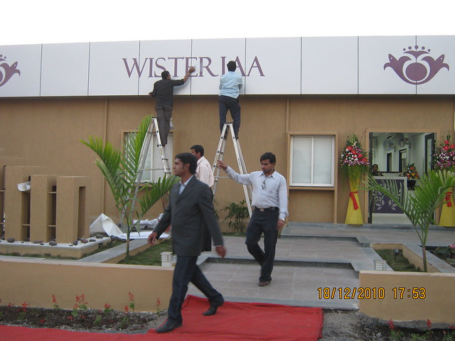 Visit to Wisteriaa - 2 BHK & 3 BHK Flats, at Bhumkar Wasti, near New Poona Bakery, at Wakad Pune 411 057 -  Sample flat and office