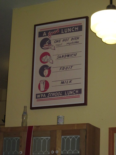 Poster at the New Deal Cafe