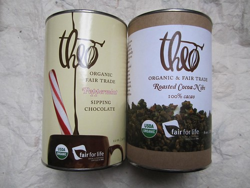 Theo Peppermint Sipping Chocolate and Roasted Cocoa Nibs