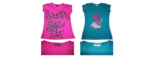 Ladies printed T shirts by Zircon Pure, HK & Euro Export, HK