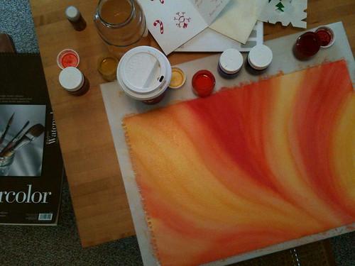orange and a mocha
