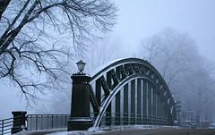 Cold Iron (Joko-Facile) Tags: bridge schnee winter snow fog germany deutschland see nebel brcke lbeck