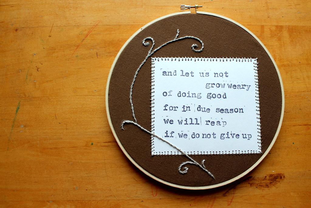 do not grow weary