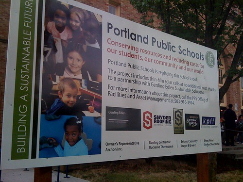 Portland Public Schools' solar panel explanation