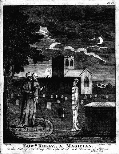Edward Kelly, a Magician, Invoking a Spirit (1806)