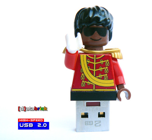 King of Pop Custom made Minifig Stick
