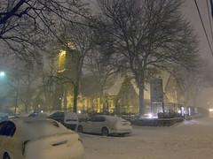 Blizzard: Church of the Redeemer (Harris Graber) Tags: newyorkcity snow snowstorm wideangle queens astoria gothamist snowfall blizzard s90 crescentstreet canons90 blizzardof2010