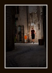 Down the alley (Robert-Jan van Lotringen) Tags: light sun france cute back alley child walk mother dordogne frankrijk martel moment oranje 2010 photomix bestcapturesaoi elitegalleryaoi mygearandme mygearandmepremium mygearandmebronze mygearandmesilver mygearandmegold rememberthatmomentlevel4 rememberthatmomentlevel1 rememberthatmomentlevel2 rememberthatmomentlevel3 rememberthatmomentlevel5