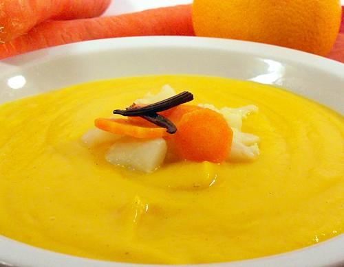 Crema di cavolfiore e carote alla vaniglia
