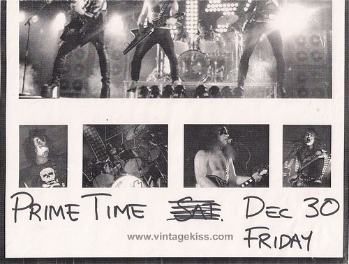 12/30/05 Vintage Kiss @ Prime Time, Burnsville, MN (Poster 2 - Bottom)