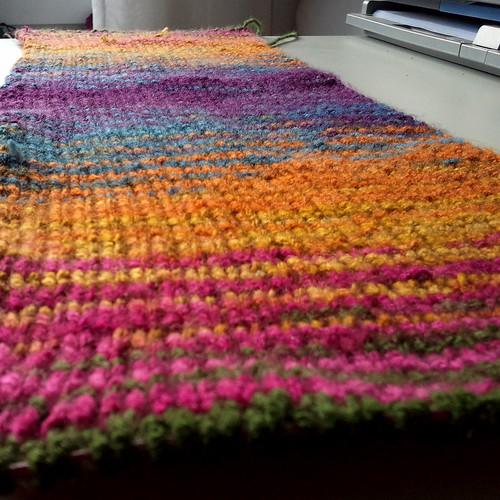 striped scarf wip