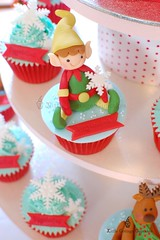 My Cute Elf 1 (Little Cottage Cupcakes) Tags: santa christmas snowflakes cupcakes elves fondant cupcaketower sugarpaste littlecottagecupcakes