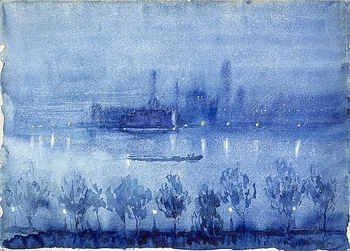 blue night, london..