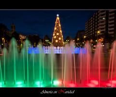 Almera en Navidad (scarabaeus sacer) Tags: color navidad luces 9 nocturna urbana almera 2010 2011 platinumheartaward nikond300 jatm64
