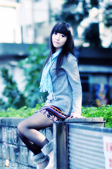 兔兔。台中二十號倉庫 (【丹尼斯®】) Tags: park travel people girl model nikon asia young taiwan jeans teen taichung dennis 台灣 旅行 2010 台中 兔兔 影像 攝影 d90 牛仔 二十號倉庫 丹尼斯