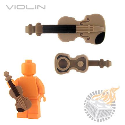 Violin - Dark Tan (black chin/neck print)