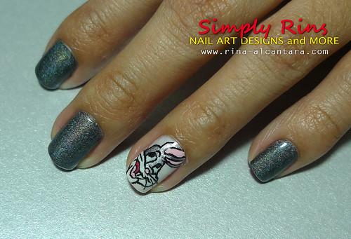 Bugs Bunny Nail Art 01