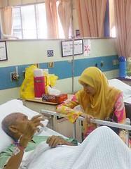 Visiting patients at Hospital Kuala Lumpur