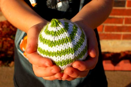 striped hacky sack