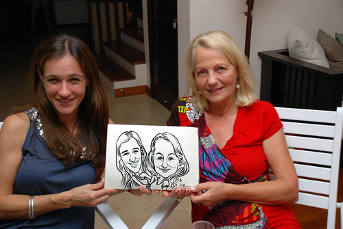 Caricature live sketching for private Christmas Party 2010 - 5
