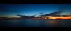 twilight horizon (Eric 5D Mark III) Tags: california longexposure sunset sky usa cloud seascape color reflection canon landscape twilight unitedstates horizon wideangle orangecounty sanclemente tone horizontalpanorama ef14mmf28liiusm eos5dmarkii hpano