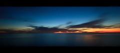 twilight horizon (Eric 5D Mark III) Tags: california longexposure sunset sky usa cloud seascape color reflection canon landscape twilight unitedstates horizon wideangle orangecounty sanclemente tone horizontalpanorama ef14mmf28liiusm eos5dmarkii hpano