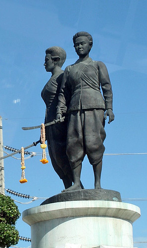 Monument of the two heroines who led the defence of Phuket against Burmese attackers in 1785