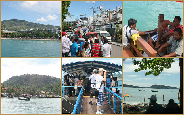 Arriving at Patong Beach