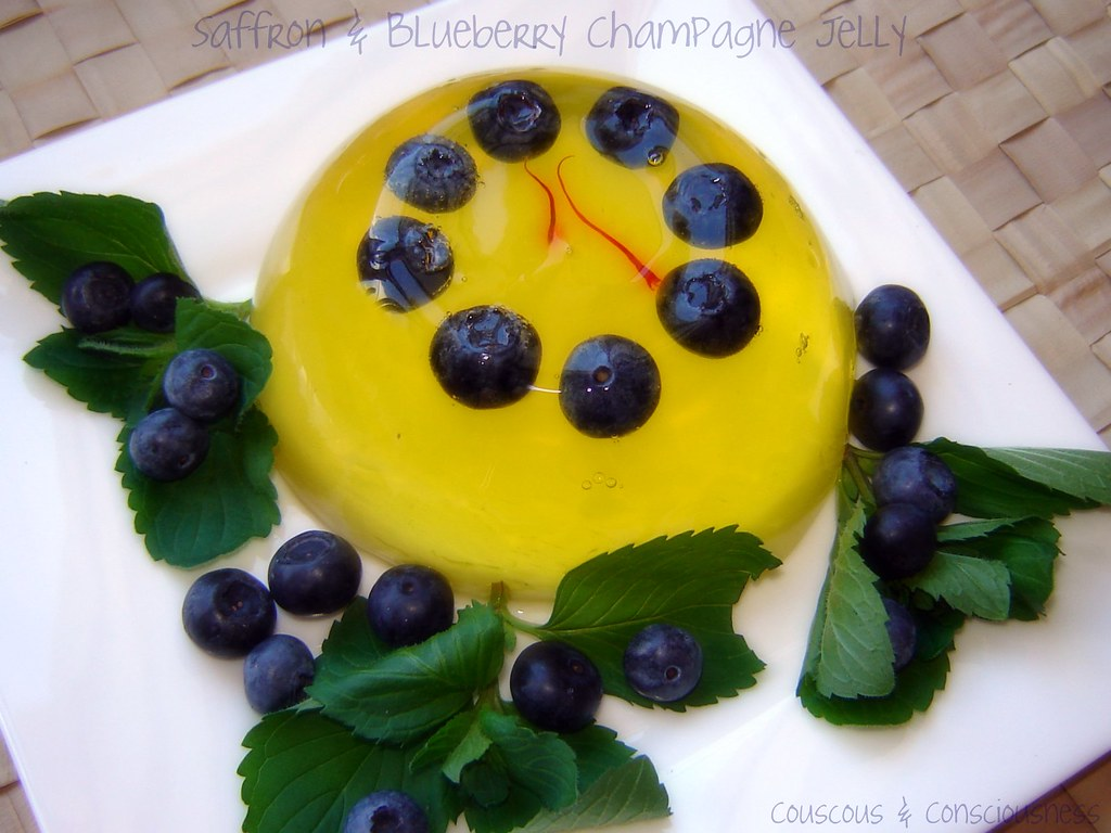 Blueberry & Saffron Champagne Jelly 3