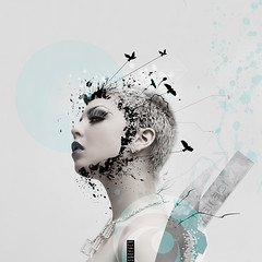 Abstract thoughts. (Danielle_T) Tags: portrait woman abstract colour art digital photoshop graphicdesign weird pretty emotion digitalart dream surreal imagination unusual conceptual lucid mental danielletunstall paigerohannawalker