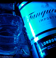 Tanqueray I (doitforlove) Tags: blue alcohol product gin project365 strobist