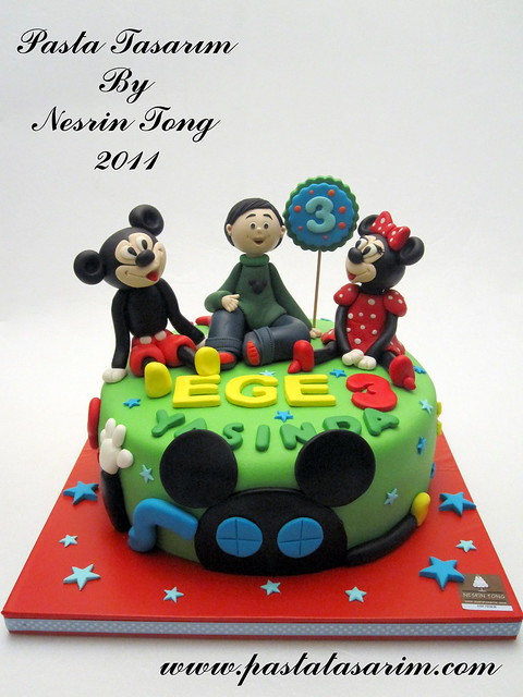 MICKEY MOUSE CLUB HOUSE CAKE - EGE BIRTHDAY