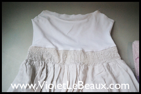 White Dress Recycling Tutorial