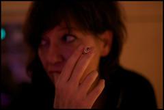 Cigarette (Nikoslillos) Tags: cigarette femme main yeux soir profil regard fumeuse