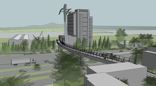 Gibbs Street pedestrian bridge