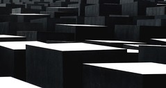 Memorial (Kashashemi) Tags: city shadow white black berlin contrast memorial towers jewish boxes tombs