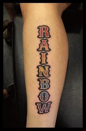 rainbow tattoo. Rainbow Tattoo