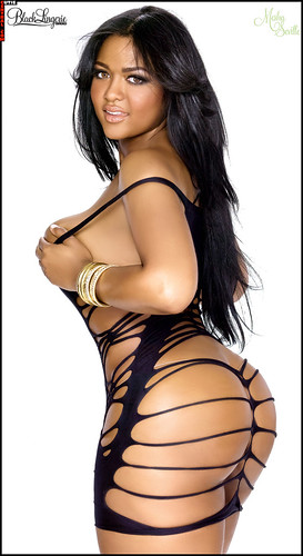 Mesha Seville SHOW Black Lingerie 13 photos