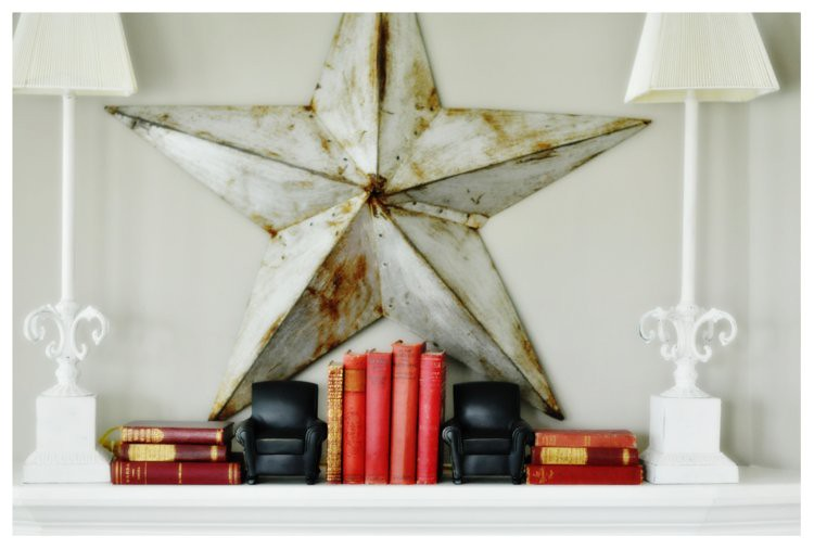 Red Books on Mantle