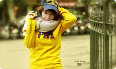 yellow girl (Oc†obεr•10) Tags: winter hot cold alex girl yellow flickr no group x retouch nhà tenten soten thờ titchan