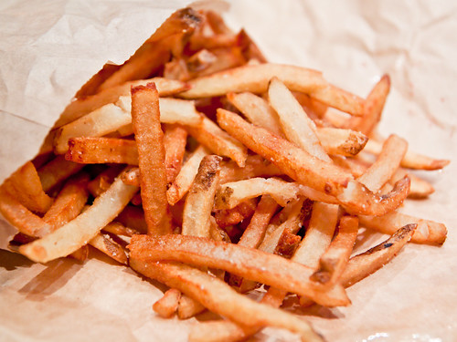 Truffle oil fries