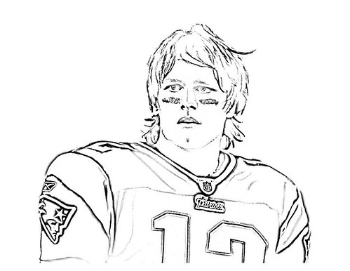 tom brady coloring pages Off On A Tangent: Tom Brady Coloring Page tom brady coloring pages