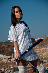 [フリー画像] 人物, 女性, 野球, スペイン人, 201101201500