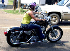 Babe On A Sportster (jwinfred) Tags: 2005 woman bike mississippi rally babe harley biker rider sturgis