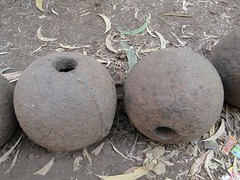 Cannon balls on Vijaydurg fort 2