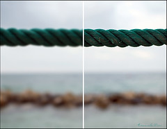 La realtà non è univoca. (emanumela) Tags: 35mm nikon mare outoffocus cima d60 plumbeo frangiflutti dittico emanumela