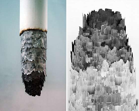cigarros como pieza de arte