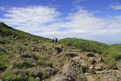 鳥海山の登山道