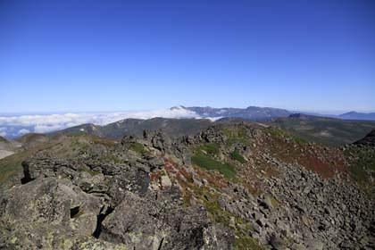 トムラウシ山の山頂